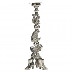HOME DECO SILVER SHOE ANIMAL CANDLEHOLDER 60