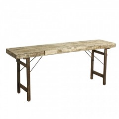 MARKET FOLDING CONSOLE TABLE WHITE