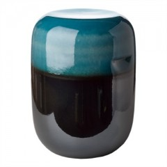 STOOL PILL STOOL CERAMICS BLUE GREEN