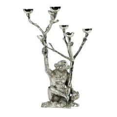 HOME DECO NICKEL MONKEY CANDLE HOLDER 40