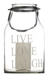 Lantern Live Love Laugh    - CANDLE HOLDERS