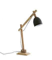 Table Lamp with Green Patina Shade