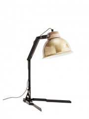 Table Lamp Brass Shade     - TABLE LAMPS