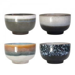 Ceramic Seventies Bowls set of 4