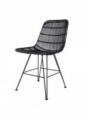 Rattan Dining Chair Black
