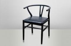 Shanghai Chair Black Oak Leather