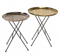Side Table Iron Set of 2