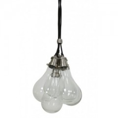 HANGING LAMP GLASS NICKEL SATIN