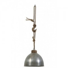 HANGING LAMP WOOD METAL