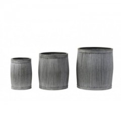 Flower Pot Zinc Grey      - POTS, VASES