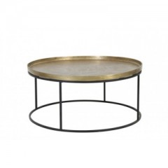COFFEE TABLE ANTIQUE GOLD     - CAFE, SIDETABLES